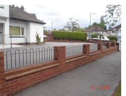 Brick Garden Wall and Railing